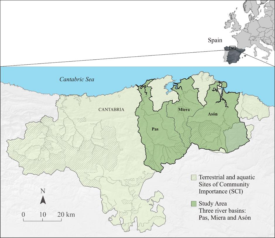 Map Of Spain Rivers.Alice In Spain Pas Miera And Ason Catchments Cantabria Alice